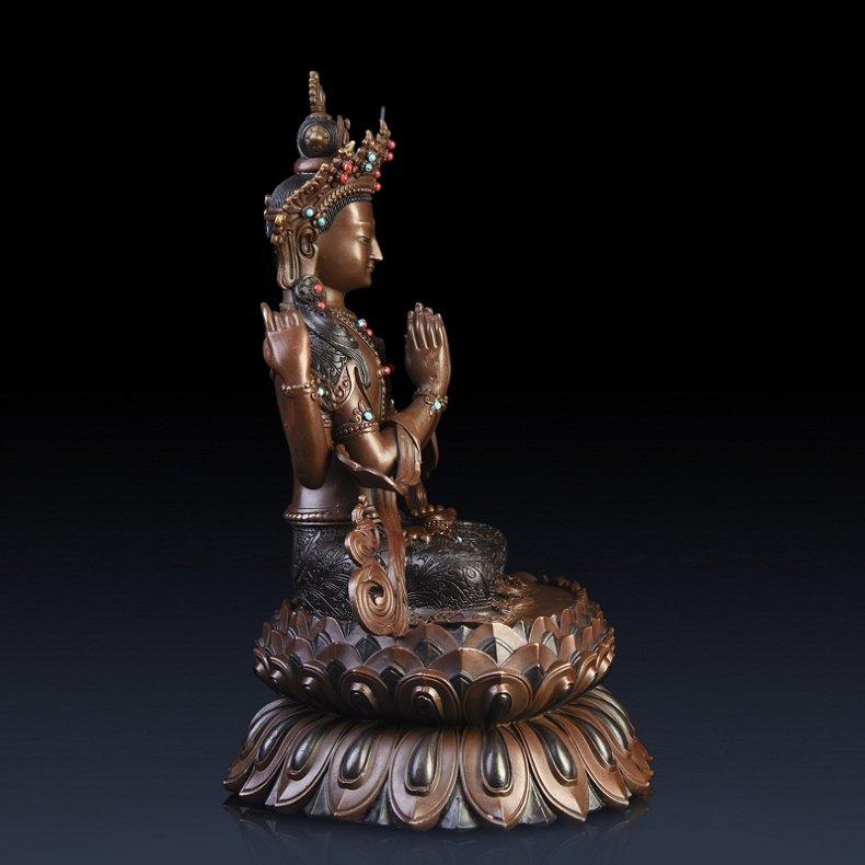 Pure copper four arm guanyin Buddha - 4