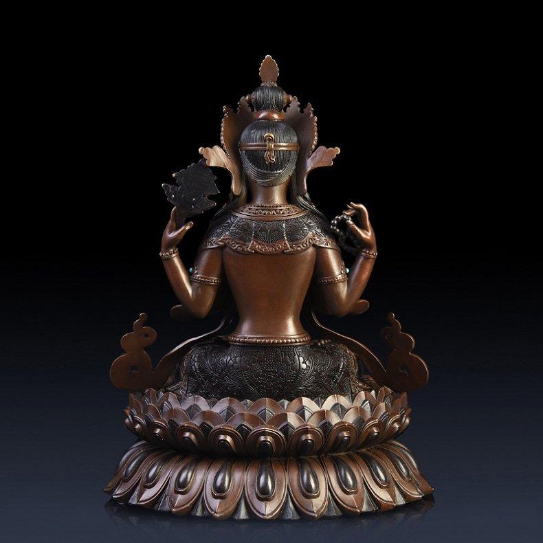 Pure copper four arm guanyin Buddha - 6