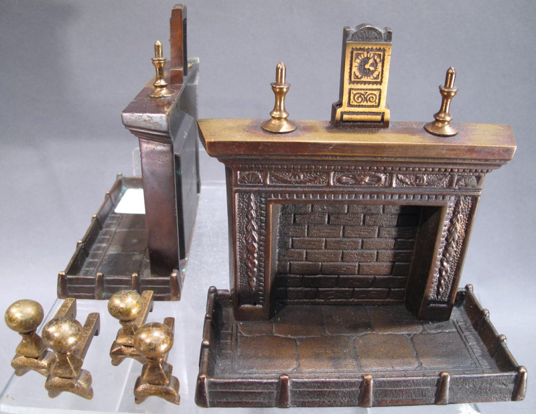 PAIR OF GRAHAM BRONZE FIREPLACE BOOKENDS.  With