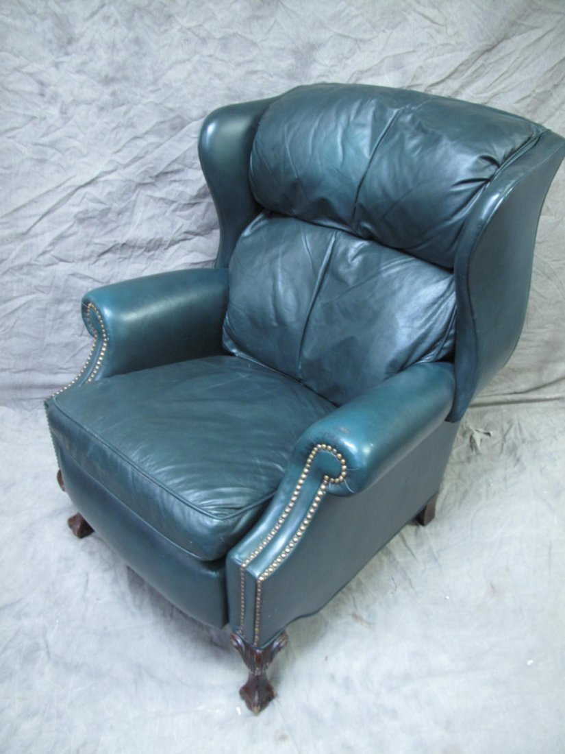 DREXEL HERITAGE HUNTER GREEN LEATHER RECLINER. With & HERITAGE HUNTER GREEN LEATHER RECLINER. With islam-shia.org