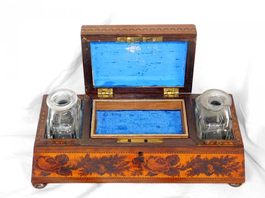 19thC Edwin Nye Turnbridge Ware Dresser Box Inlaid