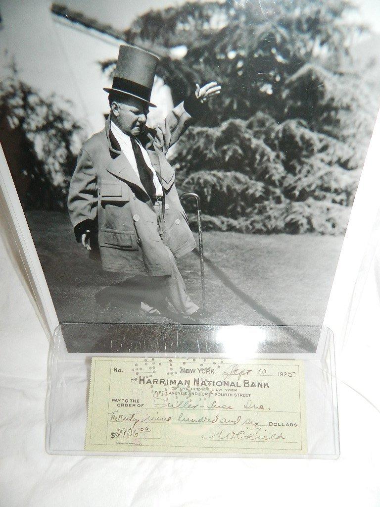 W.C.Fields Photograph & Bank Check