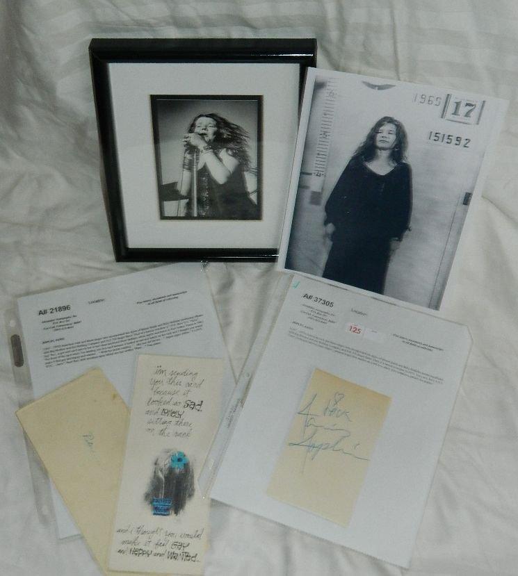 Janis Joplin Photograph & A.N.S.& D.S. Autograph Lot