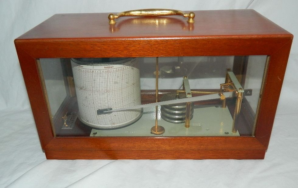 Vintage French Maxant 93100 Montreuil Marine Barograph