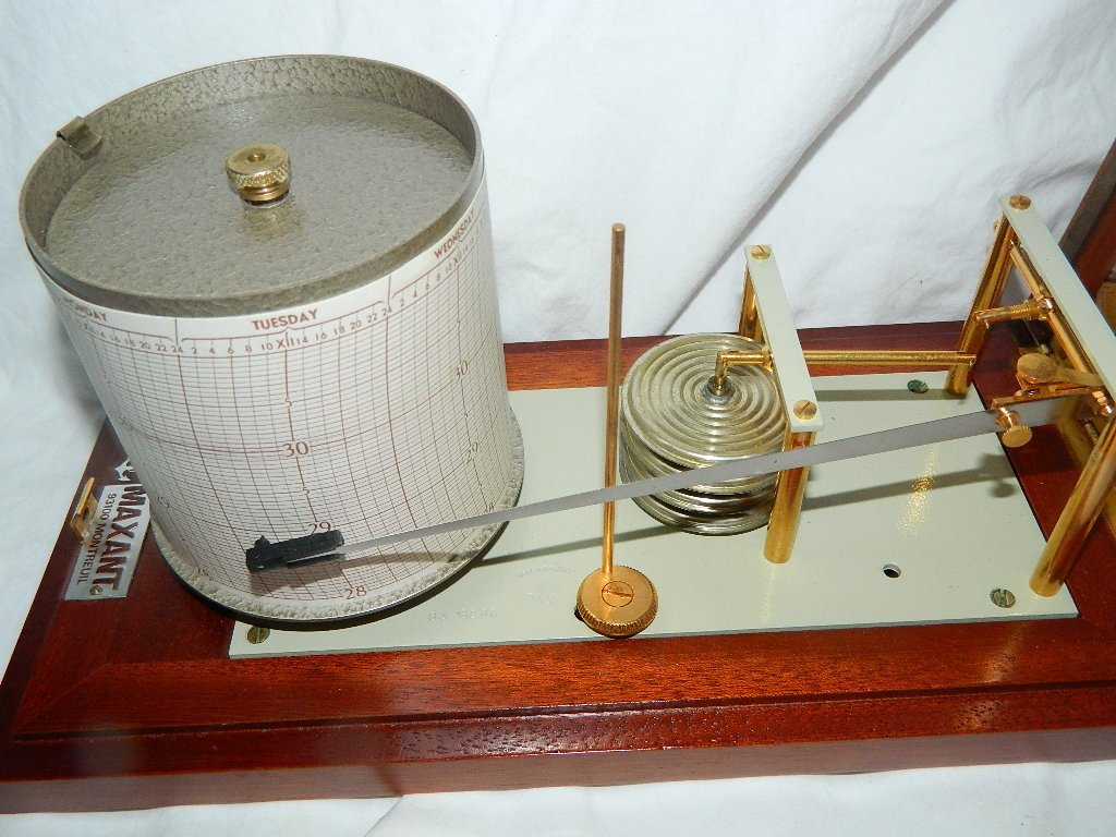 Vintage French Maxant 93100 Montreuil Marine Barograph - 2