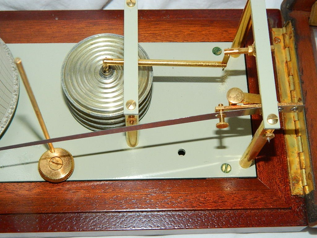 Vintage French Maxant 93100 Montreuil Marine Barograph - 4