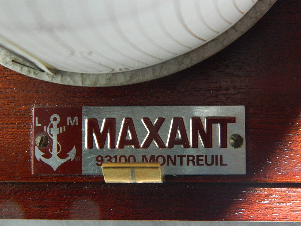 Vintage French Maxant 93100 Montreuil Marine Barograph - 5