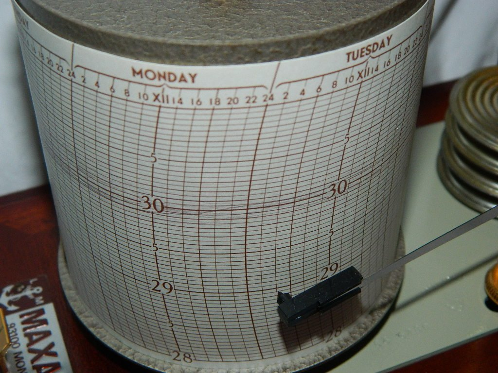 Vintage French Maxant 93100 Montreuil Marine Barograph - 6