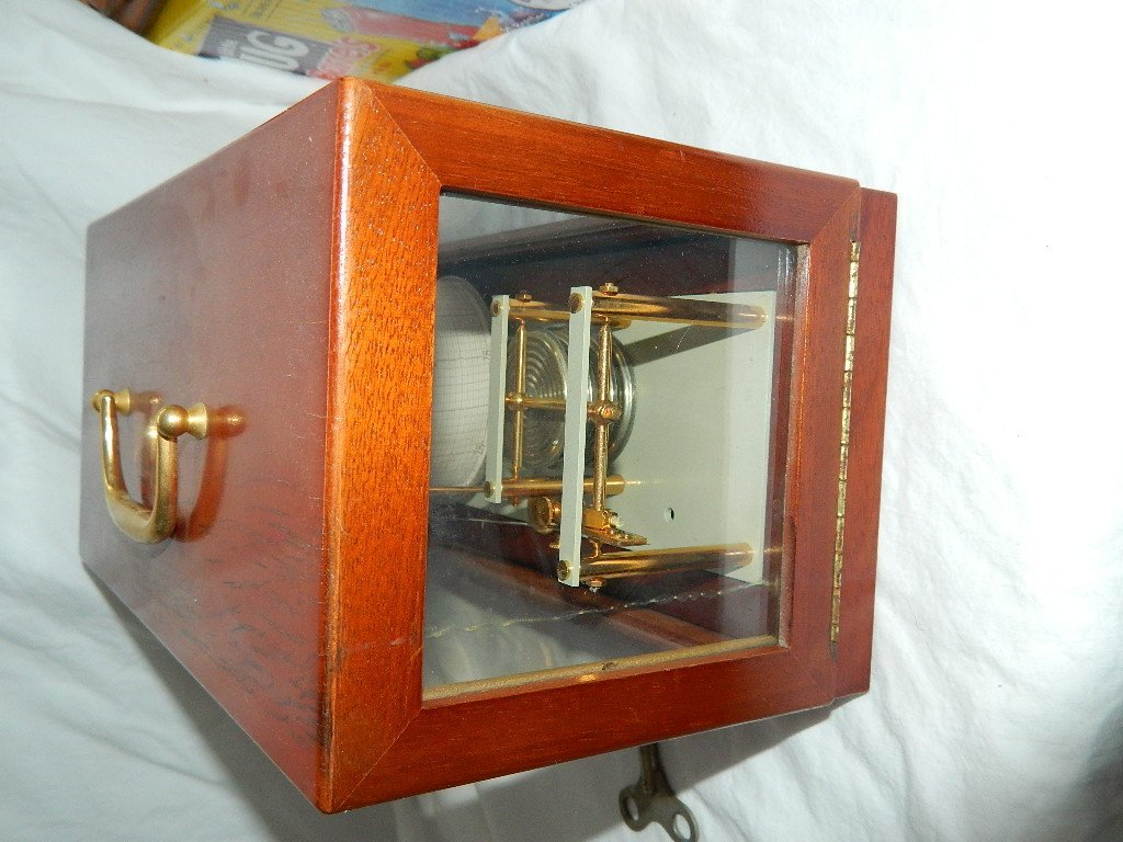 Vintage French Maxant 93100 Montreuil Marine Barograph - 7