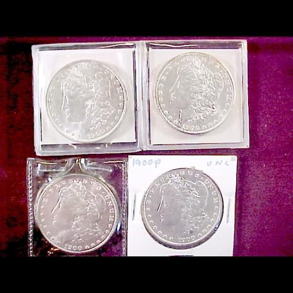3: 8 Morgan Silver Dollars - 1900-P and 1900-O