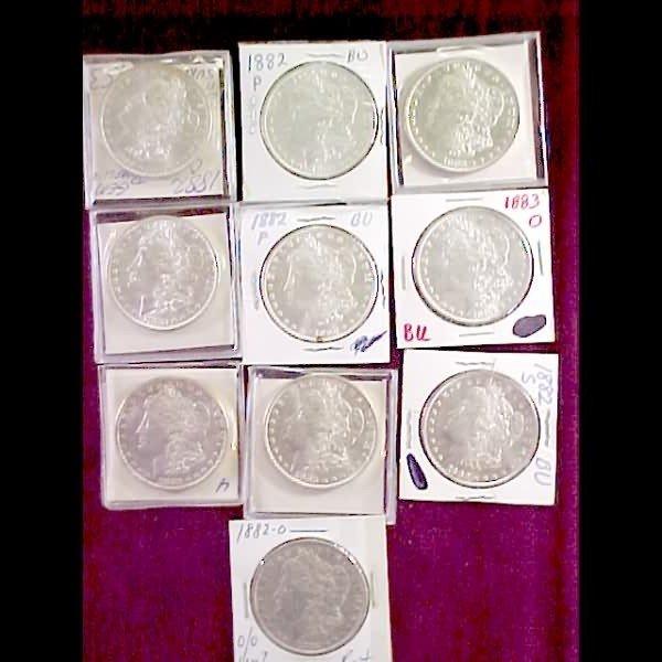 14: Ten (10) Morgan Silver Dollars - 1882 and 1883