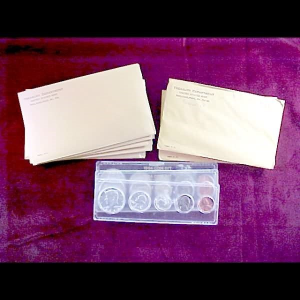 17: 10 U. S. Coin Sets - 1963 and 1964 Proofs & UNC