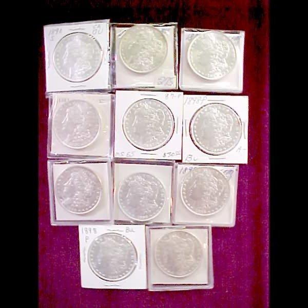 18: Eleven (11) Morgan Silver Dollars