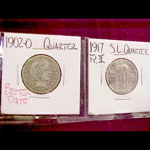 24: 4 U. S. Coins - incl 1809 Bust Half