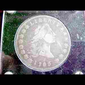 105: Scarce 1795 U.S. Silver Dollar