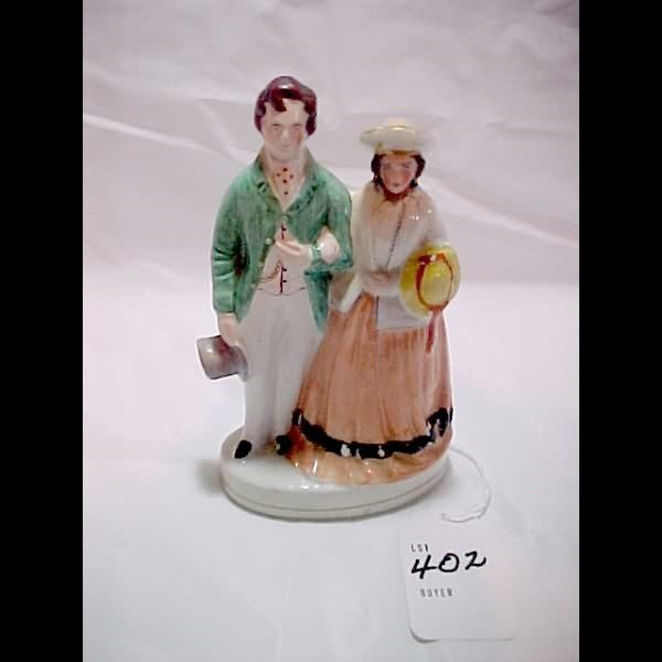 402: Turn of the Century Staffordshire Couple