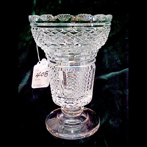 """408: 9"""" Waterford Crystal Vase"""