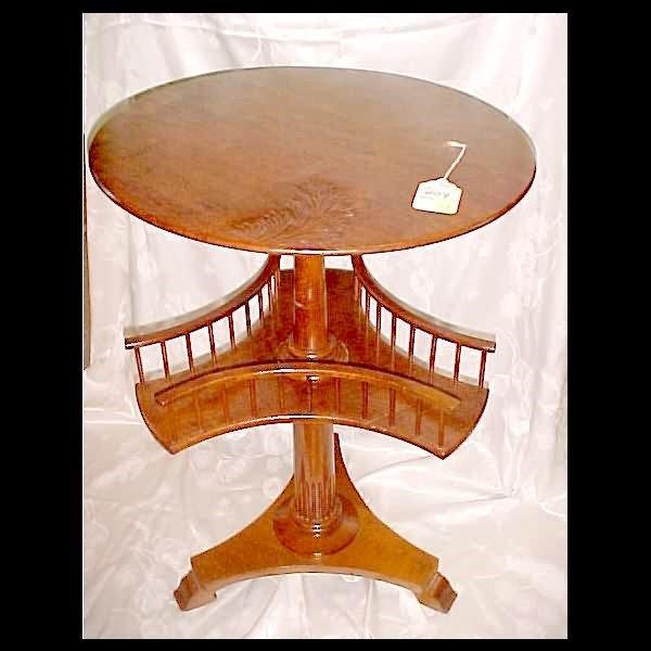 409: c.1890 Oak Smoking Table