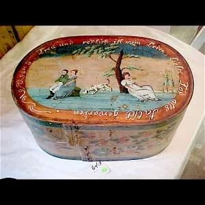 643: c.1820 Beautiful Scarce German Bride's Box