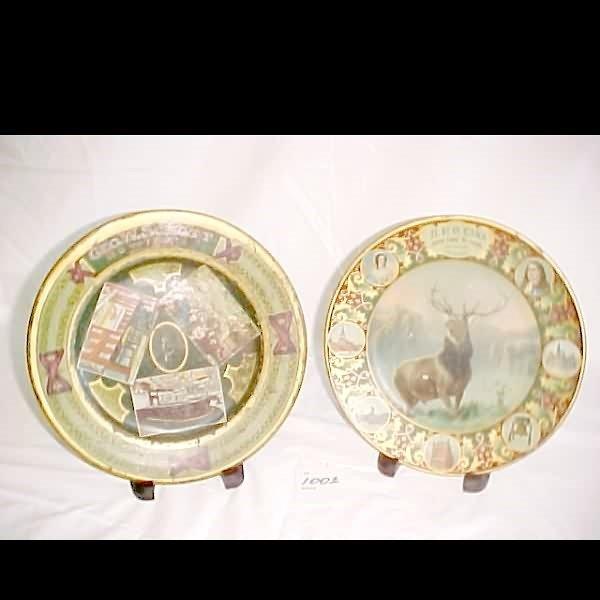 1002: 2-Tin Litho Advertising Plates - 1900's, Phila.,