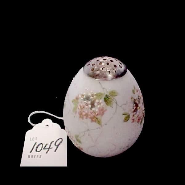1049: Wavecrest Mt. Washington Glass Enamel Painted Egg