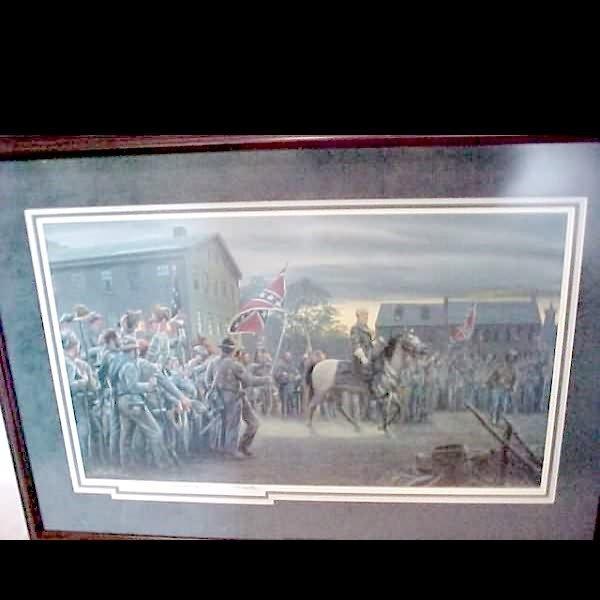 """1077: Mort Kunstler """"Twilight in Gettysburg"""" Print"""