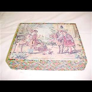 1900's Paper Litho Children's Blocks in Box
