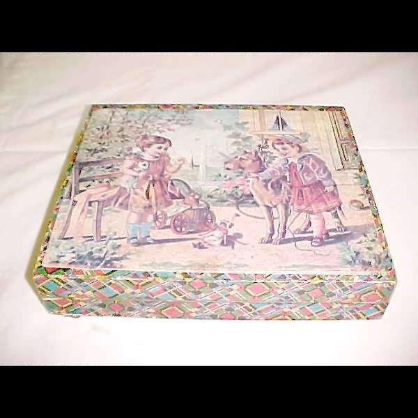 2000: 1900's Paper Litho Children's Blocks in Box