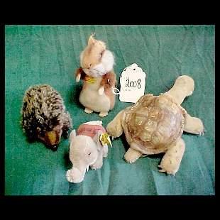 4 Small Steiff Animals - no bear