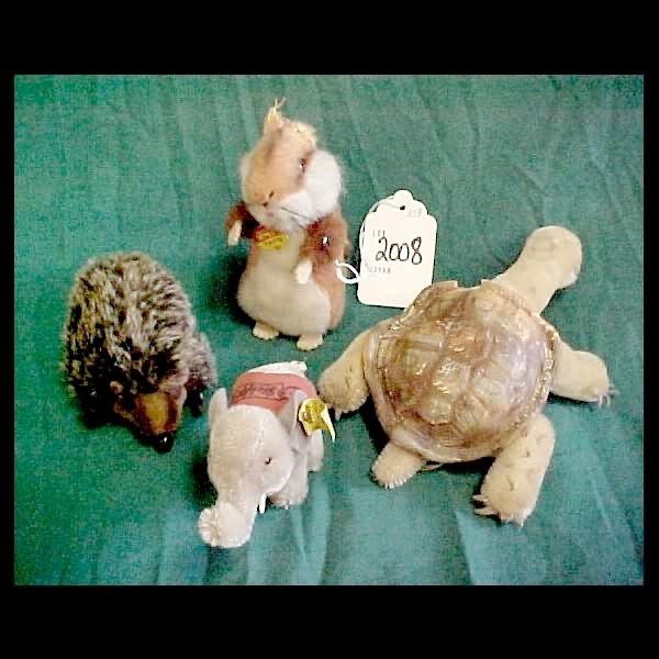 2008: 4 Small Steiff Animals - no bear