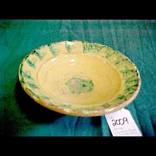 Tin Glaze Redware Bowl - Shenandoah Valley(?)