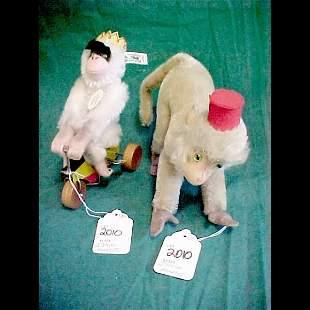 2 Steiff Monkeys - Coco & Monk King