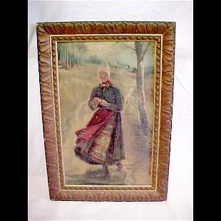 Folk Art Painting on Board