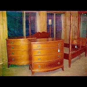 2194: 4-pc. Biggs Mahogany Bedroom Set