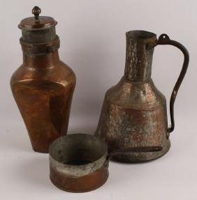 3 GREEK COPPER ITEMS
