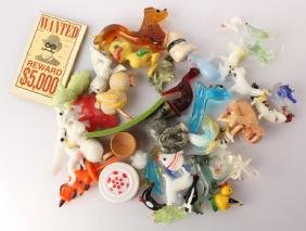 MIXED GLASS AND PLASTIC MINIATURE ANIMALS