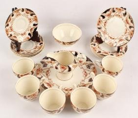 21 PIECE ENGLISH MYOTT SON THE REGAL IMARI TEA SET