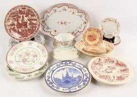 18 PIECES OF CHINA PORCELAIN PLATES AND DISHES