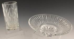 2 WATERFORD CUT CRYSTAL BOWL AND VASE