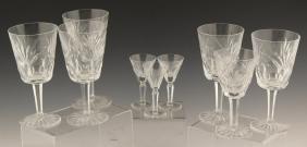 9 WATERFORD CUT CRYSTAL STEMWARE GLASSES