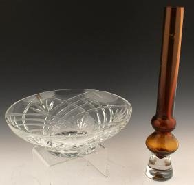 2 MARQUIS BY WATERFORD CRYSTAL VASE AND BOWL