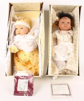 2 ASHTON DRAKE BABY DOLLS RAVEN WING & CHRISTY