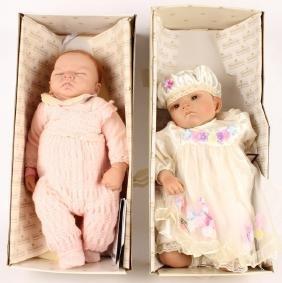 2 ASHTON DRAKE BABY DOLLS HUSH BABY & JENNIFER