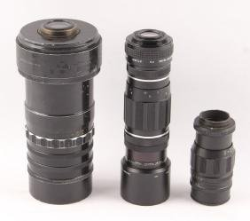 3 MID CENTURY FILM CAMERA LENSES-SEARS & SOLIGOR