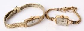 2 LADIES GOLD FILLED WATCHES--ELGIN & BULOVA