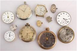 POCKETWATCH AND WRISTWATCH TIMEPIECE PARTS