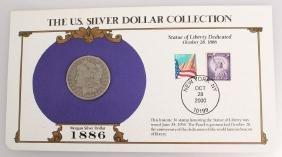 1886 NEW ORLEANS SILVER MORGAN DOLLAR STAMP SET