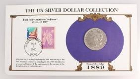 1889 NEW ORLEANS SILVER MORGAN DOLLAR STAMP SET