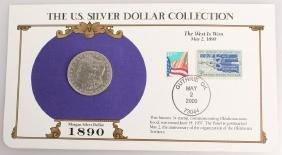 1890 NEW ORLEANS SILVER MORGAN DOLLAR STAMP SET