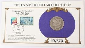 1899 NEW ORLEANS SILVER MORGAN DOLLAR STAMP SET
